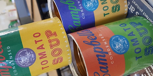 Pop-up Painting - Andy Warhol's Pop Art Campbell Soup Cans