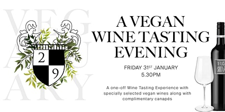 Vegan Wine Tasting tickets