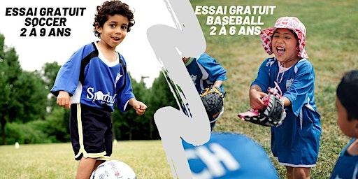Essai Gratuit de Soccer et Baseball à Rosemère - 2 à 9 ans