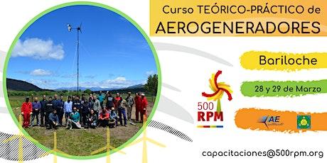 Curso teórico-práctico de energía eólica - Bariloche / Marzo 2020  entradas