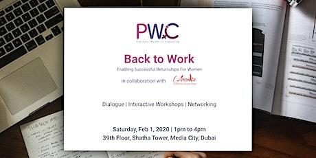 PWiC Dubai - Back to work tickets