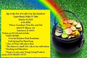 Sip to the Pot of Gold Over the Rainbow