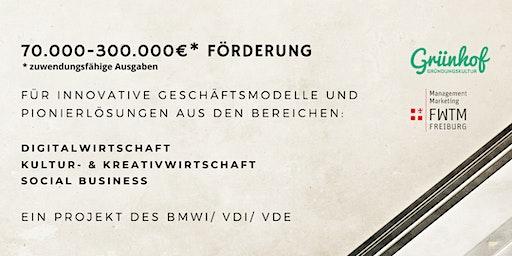 Info-Veranstaltung: Förderung des BMWi für innovative Geschäftsmodelle