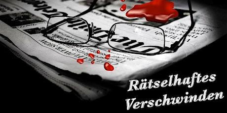 """Schnüffel-Kriminalfall """"Rätselhaftes Verschwinden"""" am 29.03.2020 Tickets"""