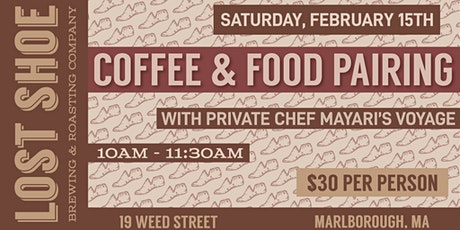 Coffee and Food Pairing with Mayari's Voyage tickets