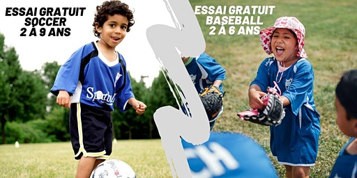 Essai Gratuit de Soccer / Baseball à Laval - 2 à 9 ans