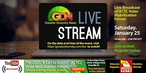"""The 2020 """"A Call to Colors"""" (ACTC) Voter Mobilization Forum"""