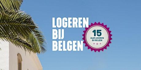 Boekvoorstelling Logeren bij Belgen 15 jaar tickets