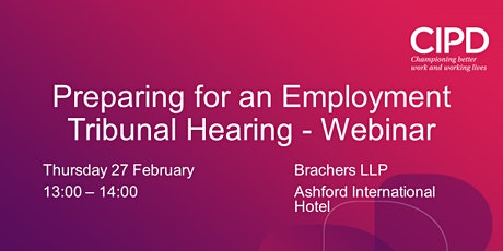 Preparing for an Employment Tribunal Hearing - Webinar tickets