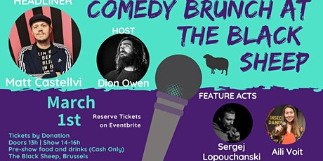 Comedy Brunch at The Black Sheep tickets