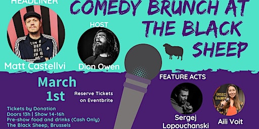 Comedy Brunch at The Black Sheep