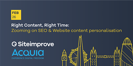 Right Content, Right Time: Zooming in on SEO & Web content personalisation tickets