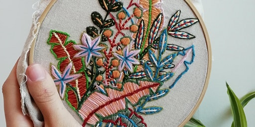 Botanical Embroidery Workshop