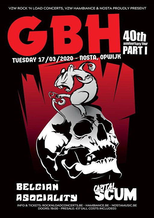 GBH (uk) + Support // Nosta, Opwijk