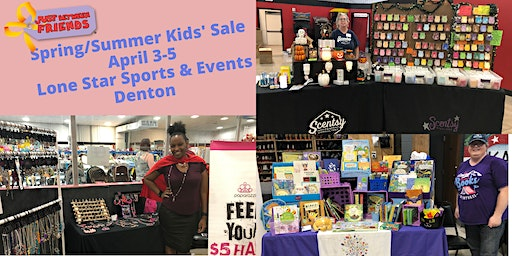 Vendor Booth at Huge Kids Shopping Event April | 4/2 - 4/4 in Denton