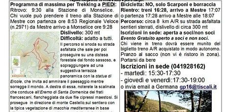 A piedi lungo la strada dei corbezzoli sul Monte Ricco (Colli Euganei) 26 gen 2020 ore 9:30 biglietti