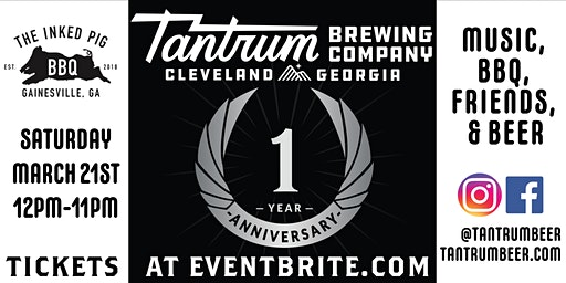 Tantrum's ONE Year Anniversary Celebration!
