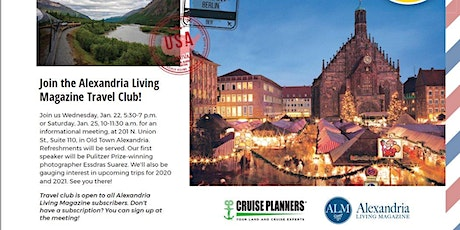 Alexandria Living Magazine Travel Club Meeting tickets