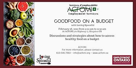 Good Food on a Budget/Bien manger avec un budget limité tickets