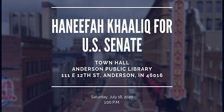 Anderson Town Hall In-Person and/or Virtual Event tickets
