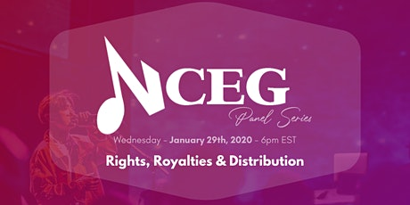 NCEG Panel Series - Rights, Royalties & Distribution tickets