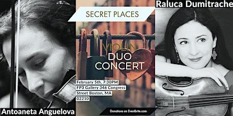 """SECRET PLACES"" VIOLIN DUO RECITAL tickets"