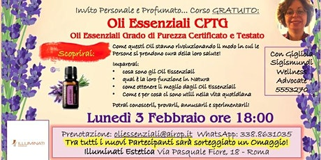 Roma Aurelio Corso Gratuito Oli Essenziali purissimi biglietti