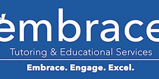 Embrace Tutoring: SAT Review Session (Math/ Writing & Language/ Reading) - Sunday, February 23rd, 2020