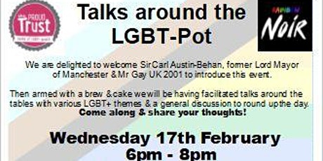 Talks around the LGBT-pot.  LGBT+ History Month Event @ Stockport Library tickets