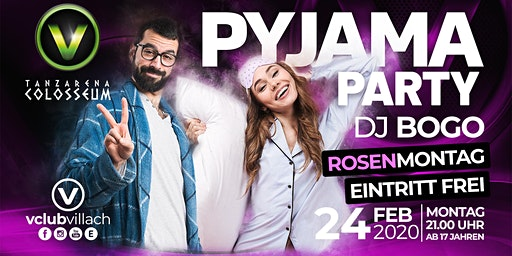 Pyjama Party am Rosenmontag mit DJ Bogo