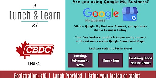 CBDC Central Lunch & Learn - Google My Business