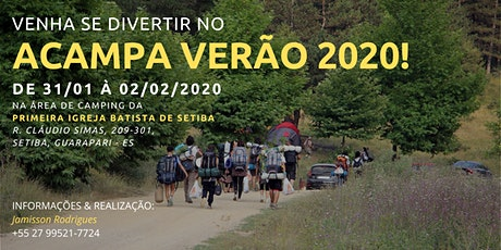 ACAMPA VERÃO 2020 ingressos