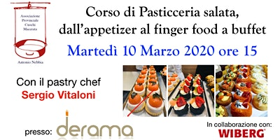 Corso di Pasticceria salata, dall'appetizer al finger food a buffet