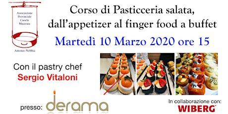 Corso di Pasticceria salata, dall'appetizer al finger food a buffet biglietti