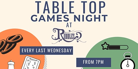 Copy of Table Top Board Games Night at Riddles tickets