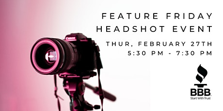 Feature Friday Headshot Event tickets