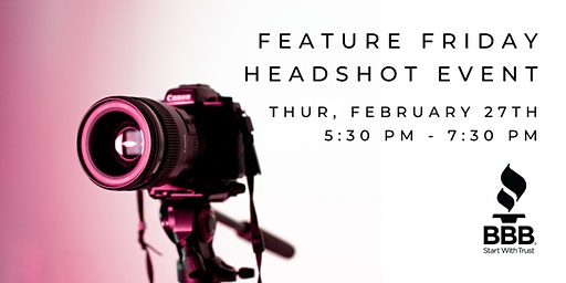 Feature Friday Headshot Event