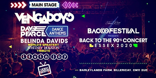 Essex Back to the 90's Open Air Concert 2020