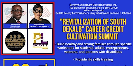 """Revitalization of South DeKalb"" Career Credit Cultivation Summit tickets"