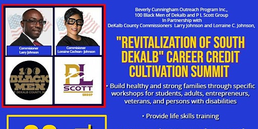 """Revitalization of South DeKalb"" Career Credit Cultivation Summit"