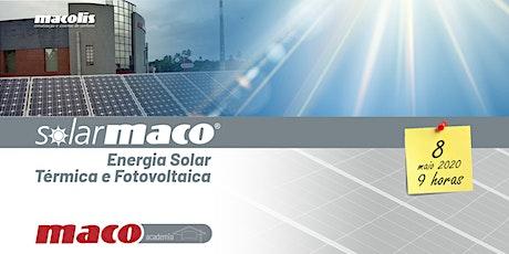 SolarMaco - Energia Solar Térmica e Fotovoltaica bilhetes