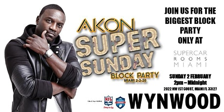 *EXCLUSIVE ANNOUNCEMENT* AKON'S SUPER SUNDAY BLOCK PARTY! tickets
