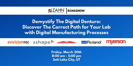 Demystify the Digital Denture: Paths to Digital Manufacturing Processes tickets