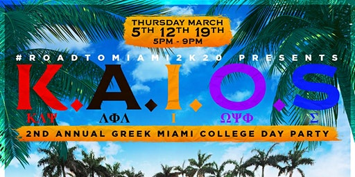 K.A.I.O.S 2ND ANNUAL GREEK COLLEGE DAY PARTY
