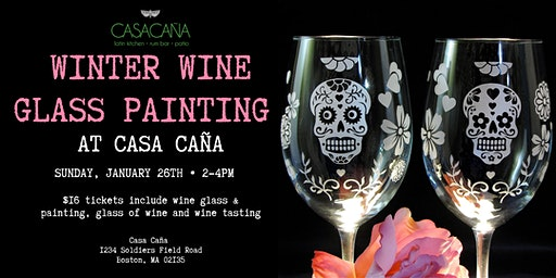 Winter Wine Glass Painting @ Casa Cana