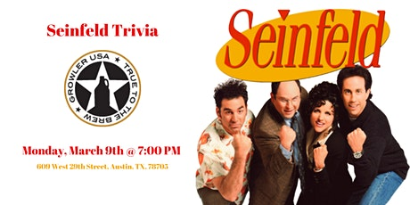 Seinfeld Trivia at Growler USA Austin tickets