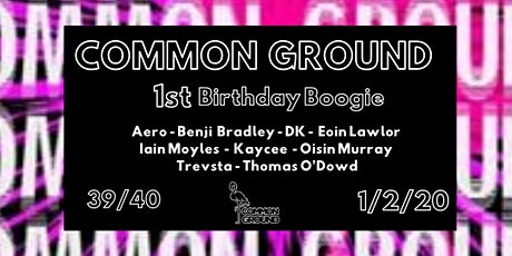 Common Ground : 1st Birthday Boogie tickets