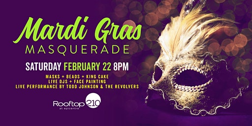 Mardi Gras Masquerade at Rooftop 210