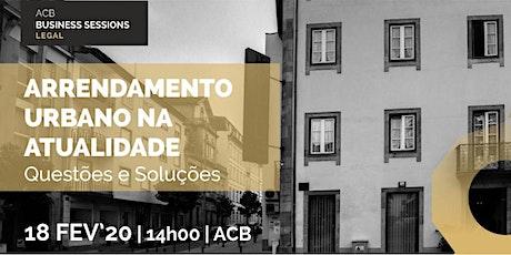 Workshop Arrendamento Urbano na Atualidade – Questões e Soluções bilhetes