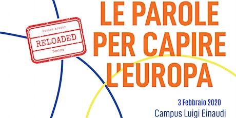 Le parole per capire l'Europa biglietti